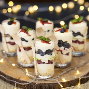 Festive Berries Trifle with Nutmeg-Infused Chantilly