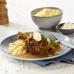 Slow Cooked Spiced Lamb Shanks