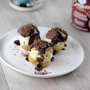 Frozen Custard Profiteroles