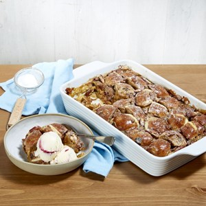 Kirsten Tibballs' Hot Cross Bun Pudding
