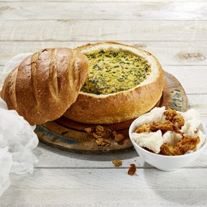 Cobb Loaf Spinach Dip