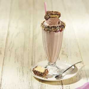 Decadent lamington thickshake